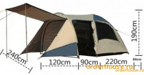 Палатка 4-х местная TASMAN 4V DOME PLUS OZ4V COOLWALK